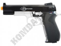 Firepower 45 Metal Slide Airsoft BB Gun Black and Clear